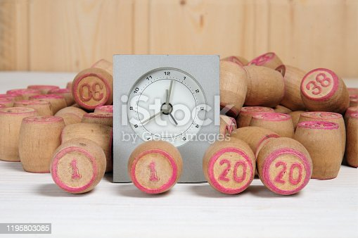 1018565666 istock photo Lotto kegs with New Year calendar dates 1195803085