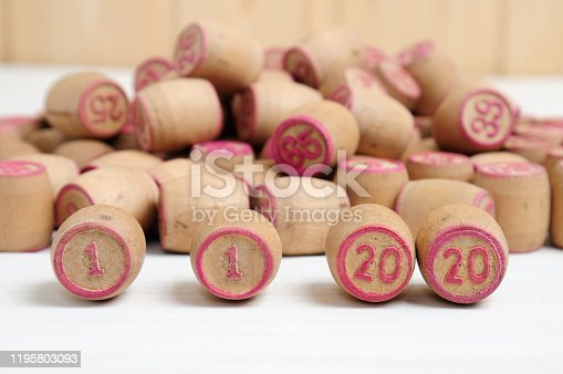 1018565666 istock photo Lotto kegs with New Year calendar dates 1195803093