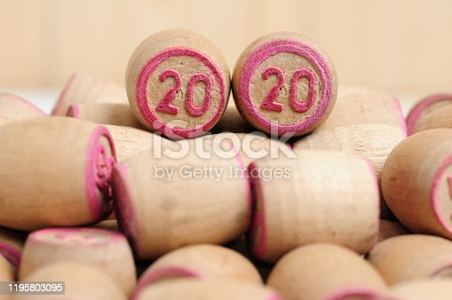 1018565666 istock photo Lotto kegs with New Year calendar dates 1195803095