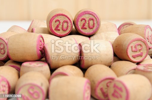 1018565666 istock photo Lotto kegs with New Year calendar dates 1195803099