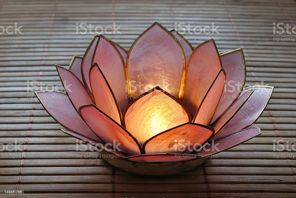 Lotus Candle Holder royalty-free stock photo