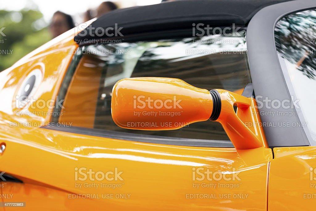 Lotus car reversing mirror stock photo