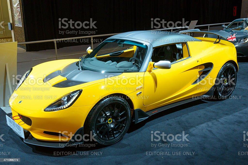 Lotus Elise 220 Cup race car stock photo