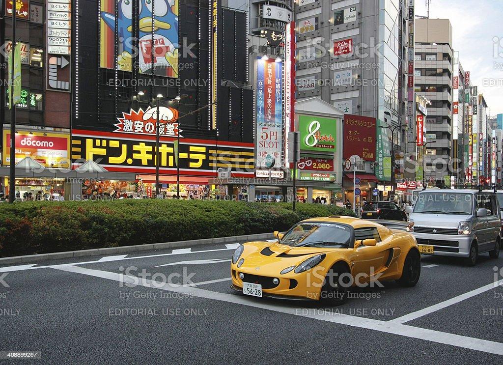 Lotus Exige in Tokyo stock photo