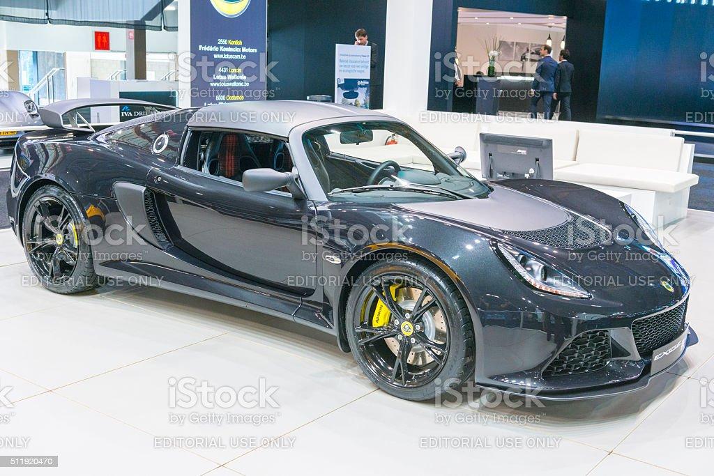 Lotus Exige Sport 350 sports car stock photo