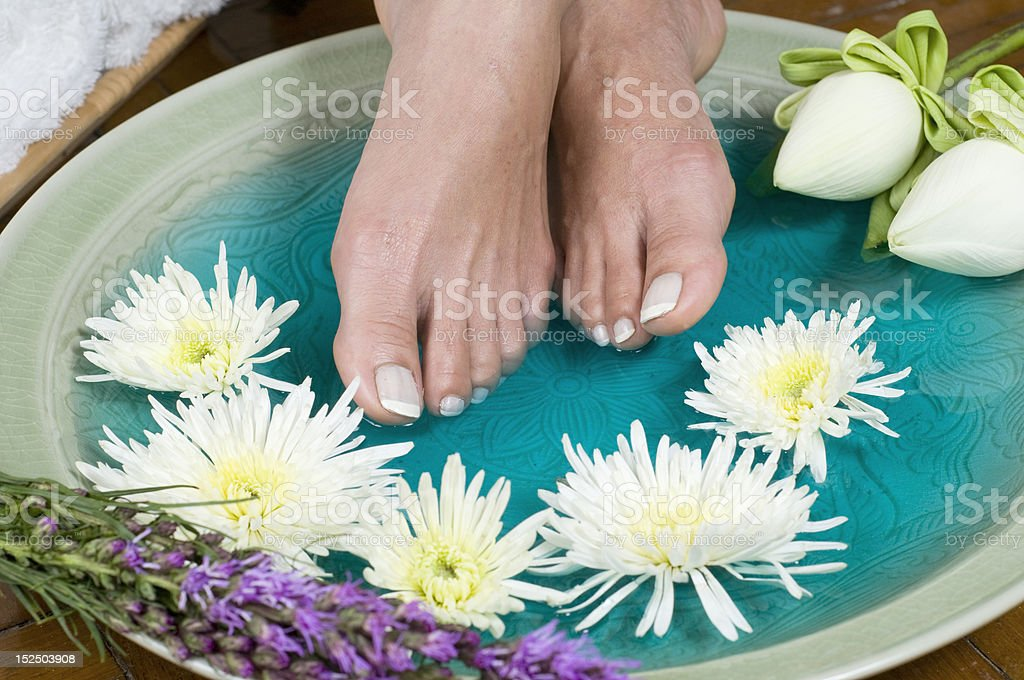 Lotus Flower Aromatherapy Spa For Feet Stock Photo More Pictures