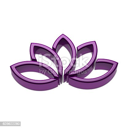 624717328istockphoto Lotus Flower Logo. 3D Render Illustration 625622280