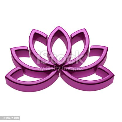 624717328istockphoto Lotus Flower Logo. 3D Render Illustration 625625158