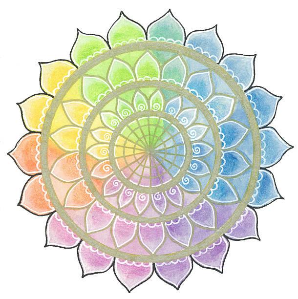 lotus-mandala - lotus symbol stock-fotos und bilder