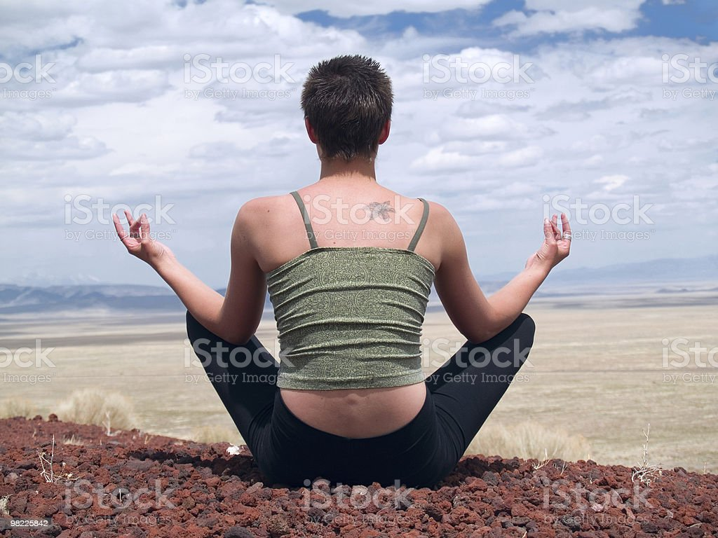 Lotus position royalty-free stock photo
