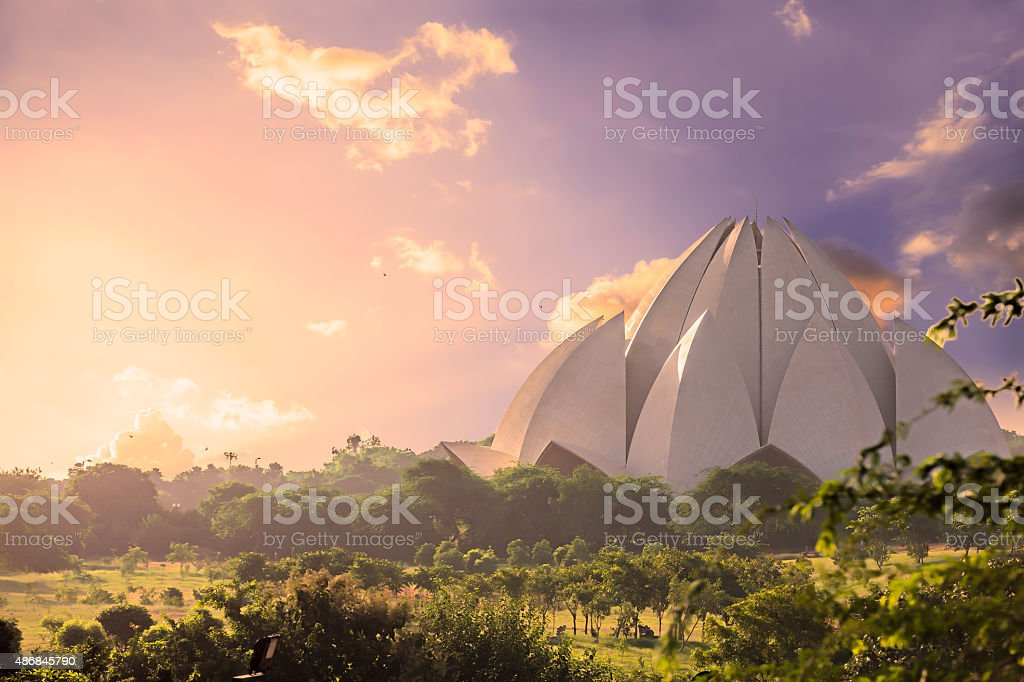 Lotus Temple, New Delhi, India - CNGLTRV1109 stock photo