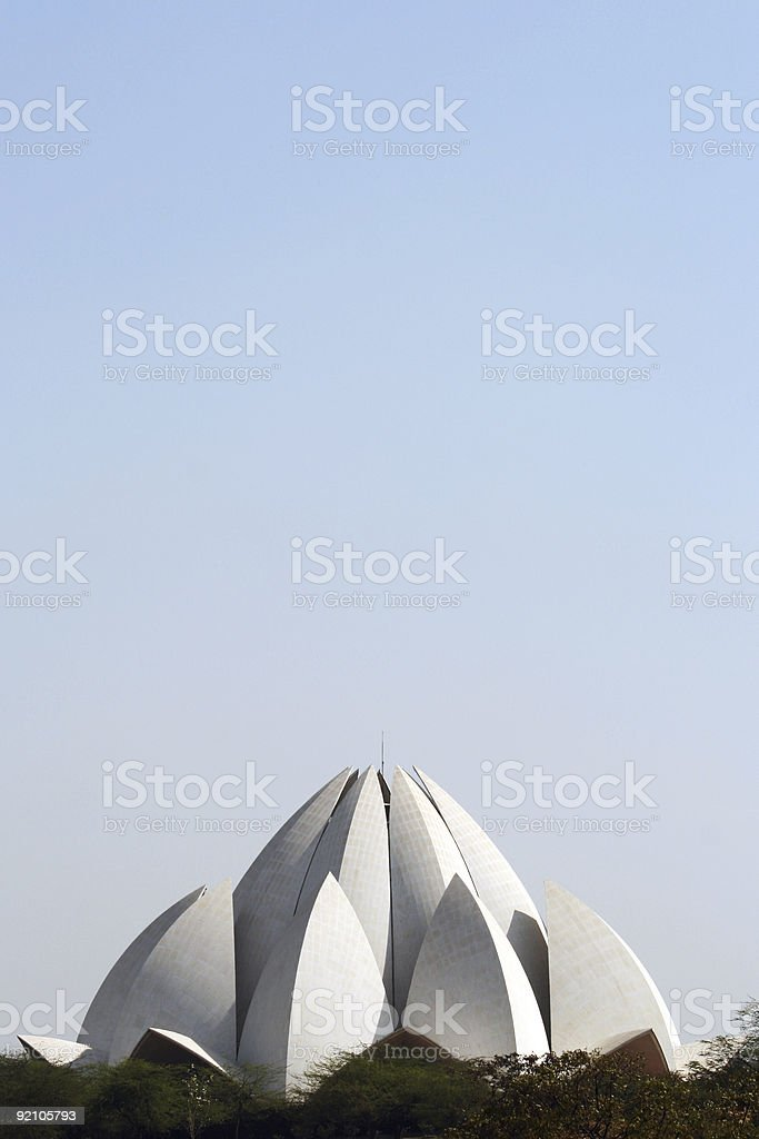 Lotus Temple of New Delhi, India royalty-free stock photo