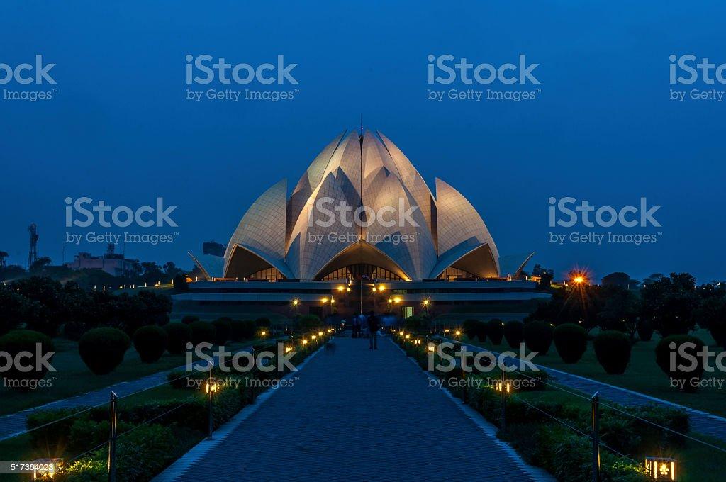 Lotus Temple stock photo