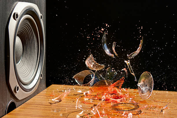 Loud Music Can Cause Damage - Studio Shot stock photo