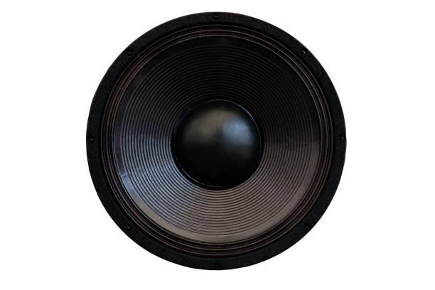 loud speaker isolated on background - altoparlante hardware audio foto e immagini stock