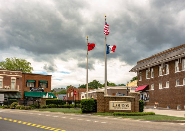 loudon historic district - loudon stock photos and pictures