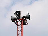 Loudspeaker on pole