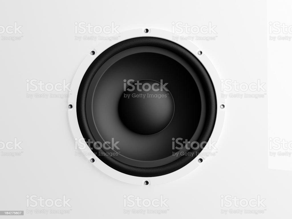 Loudspeaker on white background stock photo