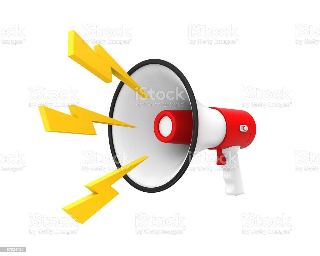 Loudspeaker or Megaphone stock photo