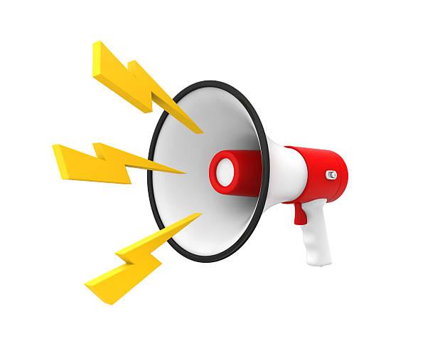 акустическая или рупор - lightning стоковые фото и изображения