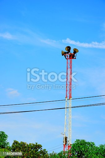 Alertness, Cable, Color Image, Danger, Megaphone