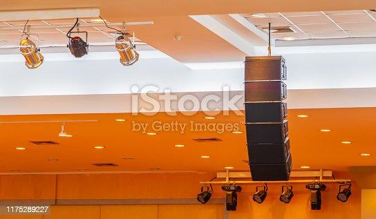 istock loudspeaker sound system hang ceiling in meeting room 1175289227