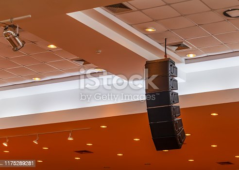 istock loudspeaker sound system hang ceiling in meeting room 1175289281