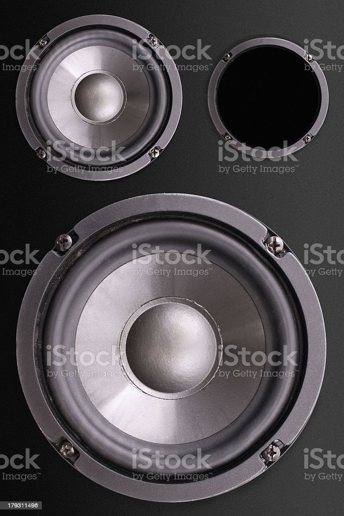 Loudspeakers enclosure stock photo