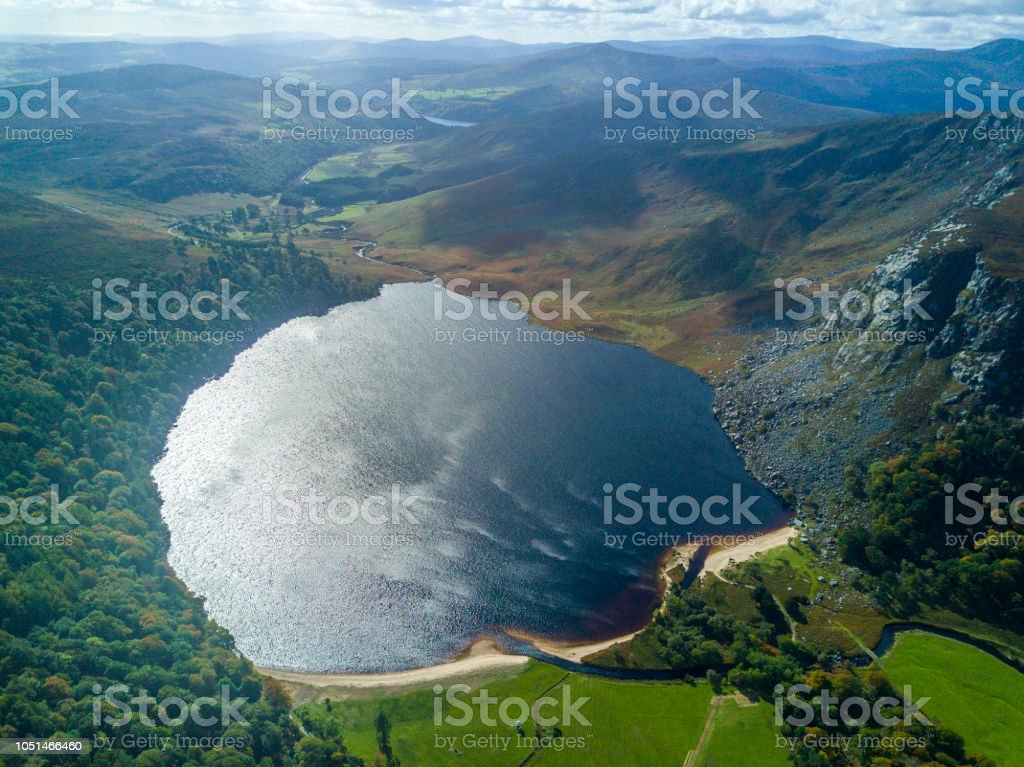 Lough Tay, co. Wicklow, Ireland. stock photo