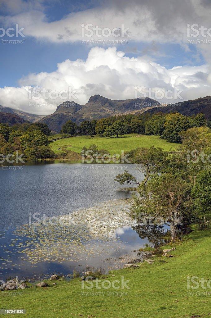 Loughrigg Tarn, Cumbria stock photo