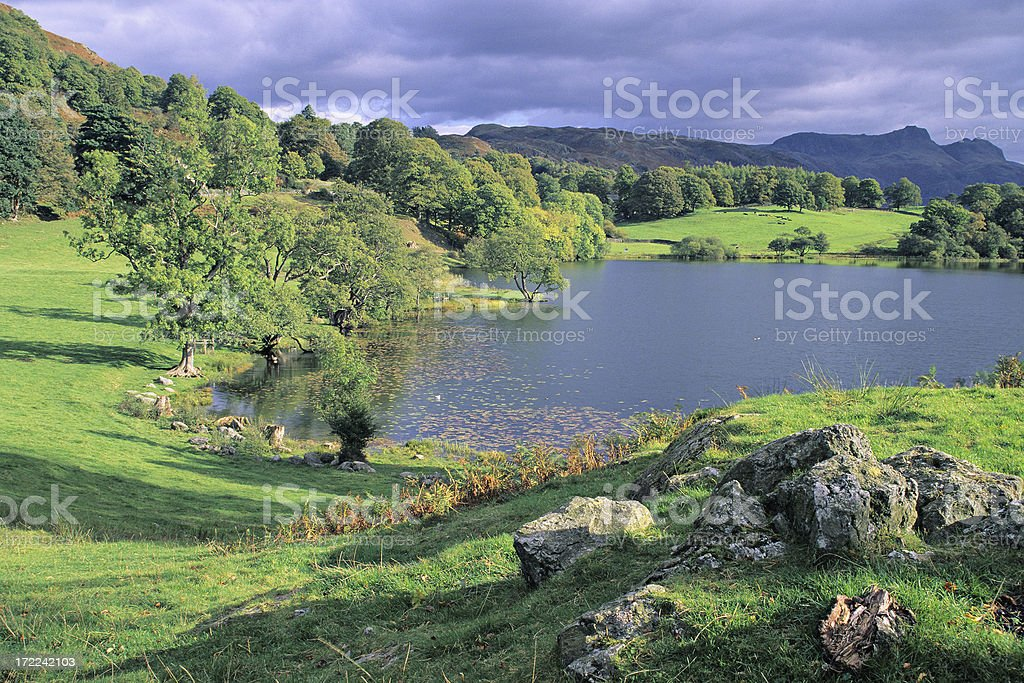 Loughrigg Tarn royalty-free stock photo
