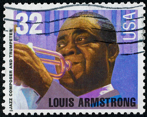 Louis Armstrong Stamp stock photo