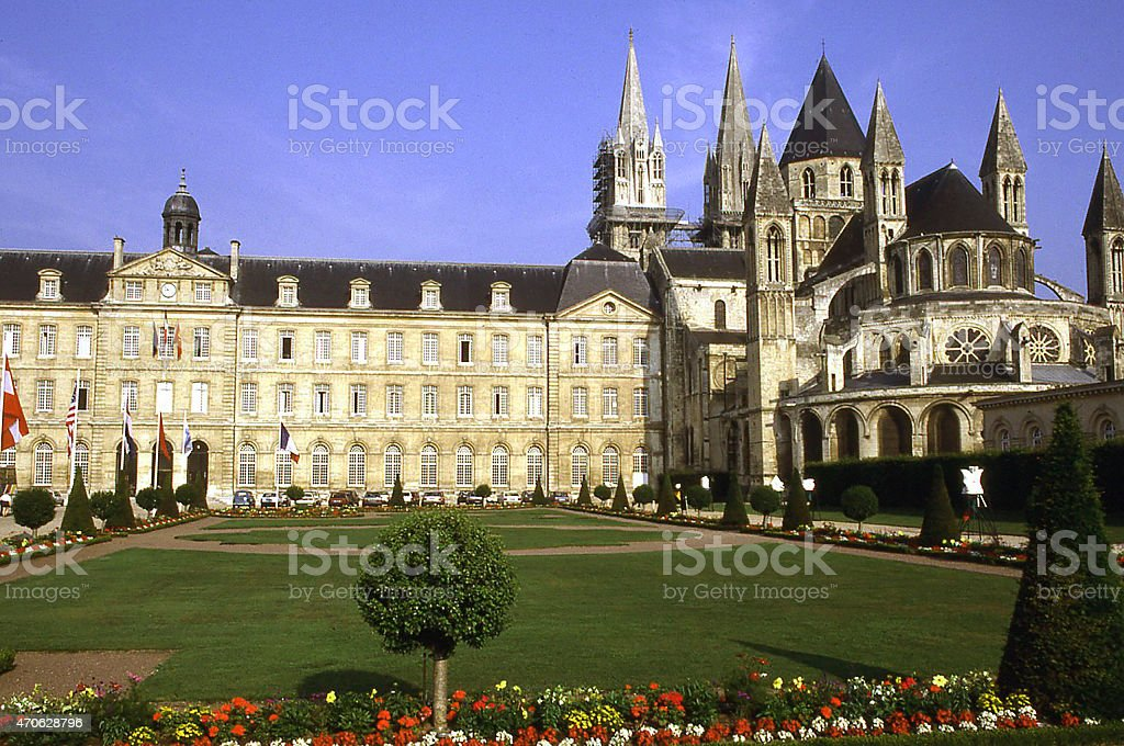 Louis Guillouard Square City Hall Caen Normandy France stock photo