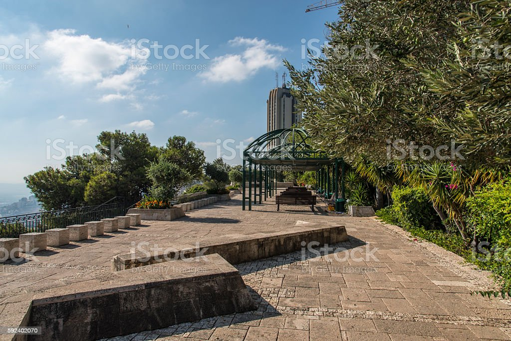 Louis Promenade in Haifa, Israel stock photo