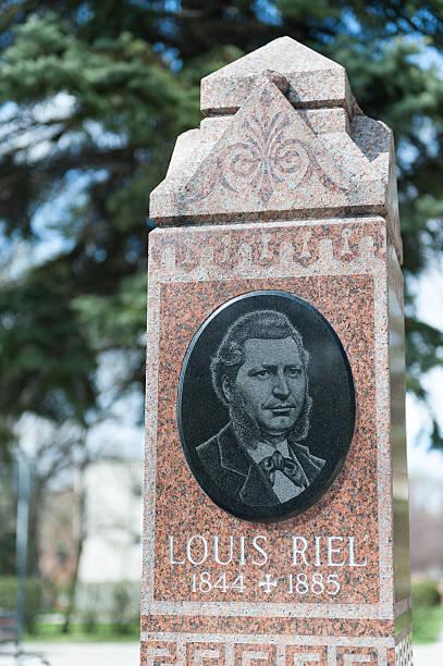 Louis Riel headstone stock photo