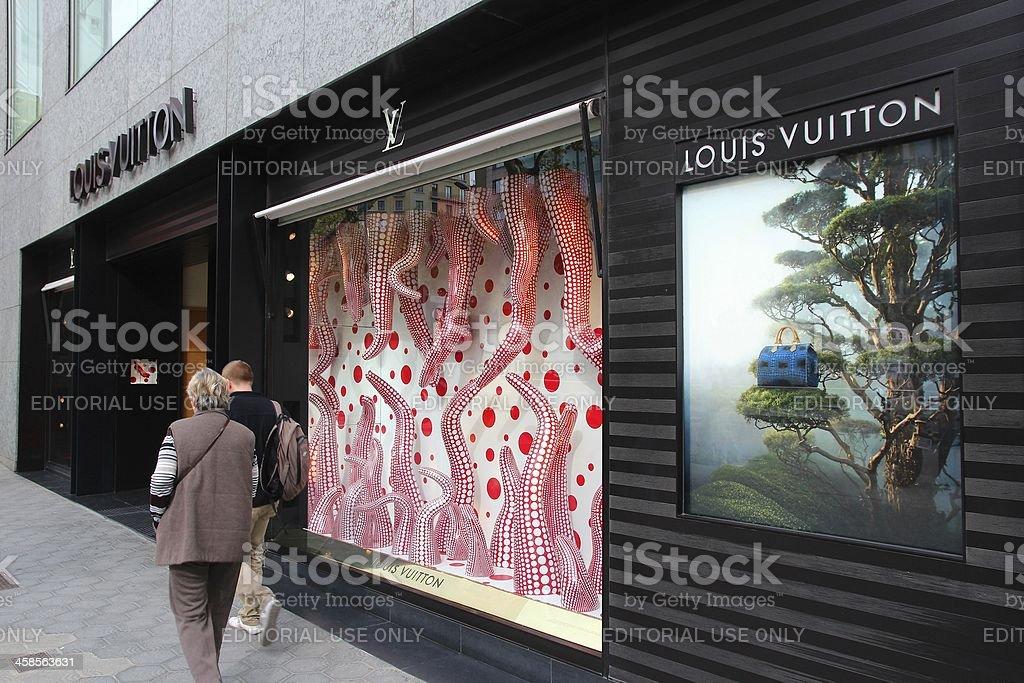 Louis Vuitton, Barcelona stock photo