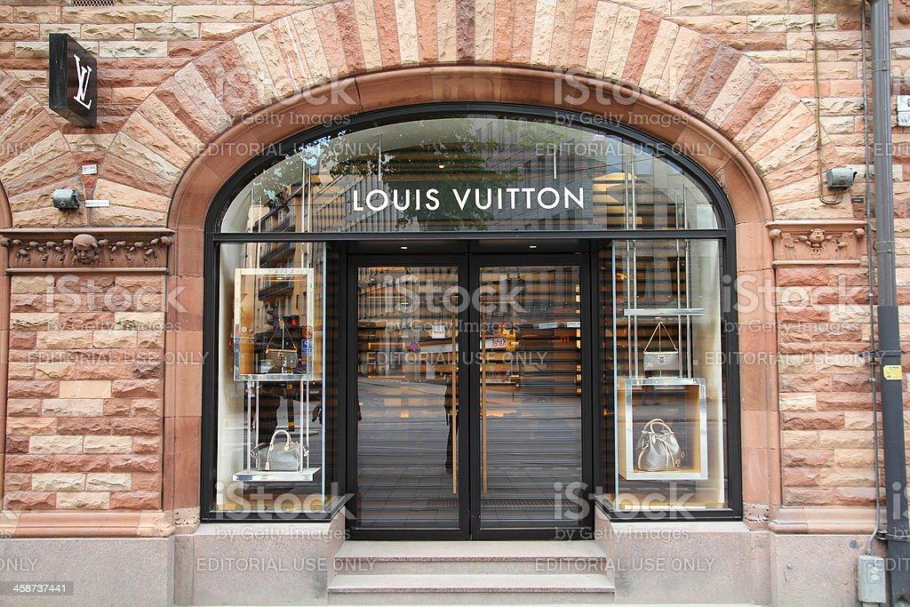 Louis Vuitton luxury store stock photo