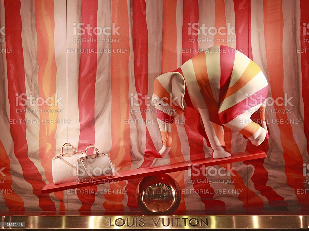Louis Vuitton shop window stock photo