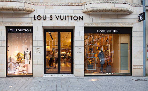 Louis Vuitton store in Dusseldorf Germany stock photo