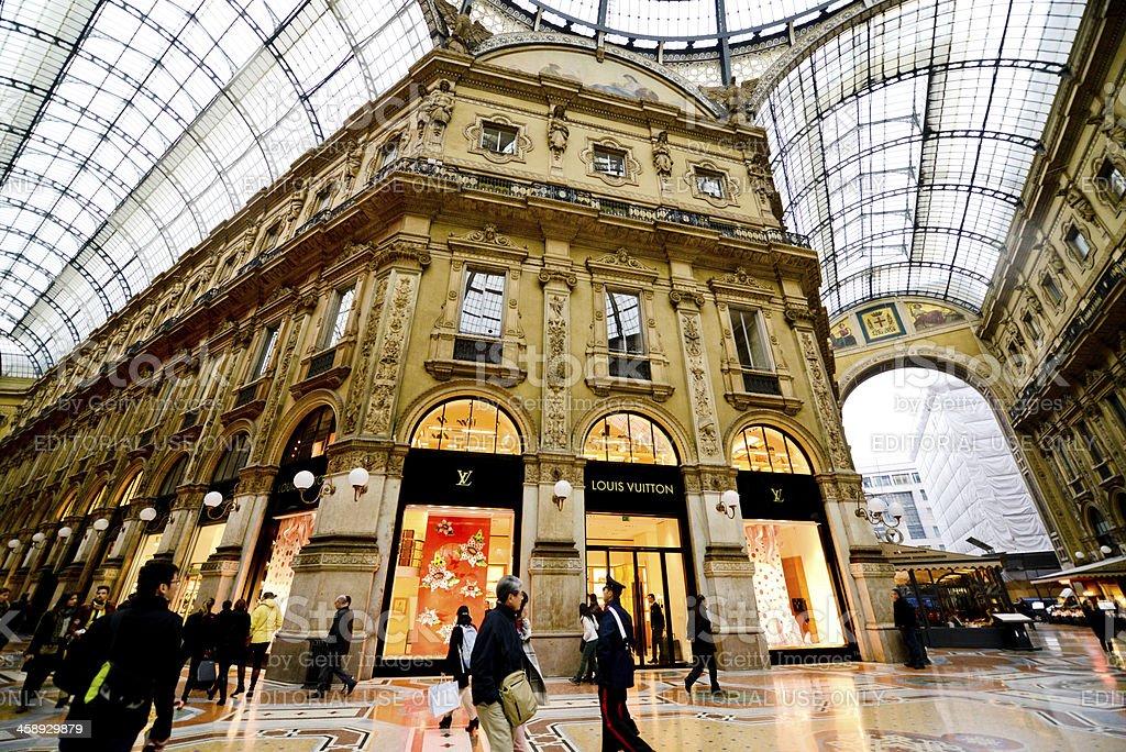 Louis Vuitton Store In Galleria Vittorio Emanuele Ii Milan Stock
