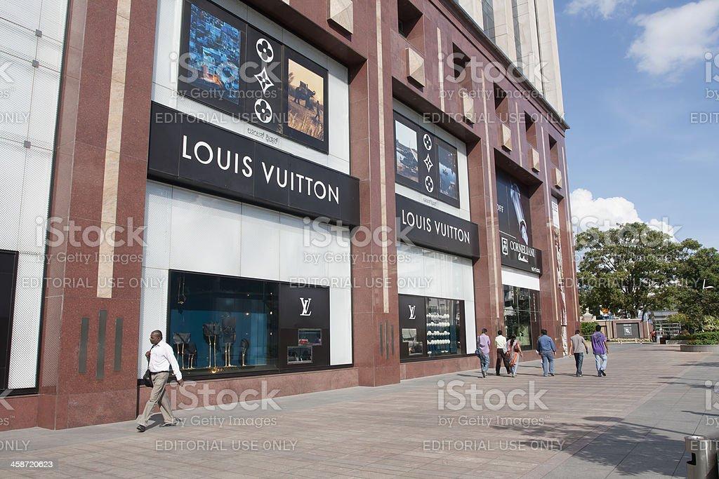 Louis Vuitton store, India royalty-free stock photo