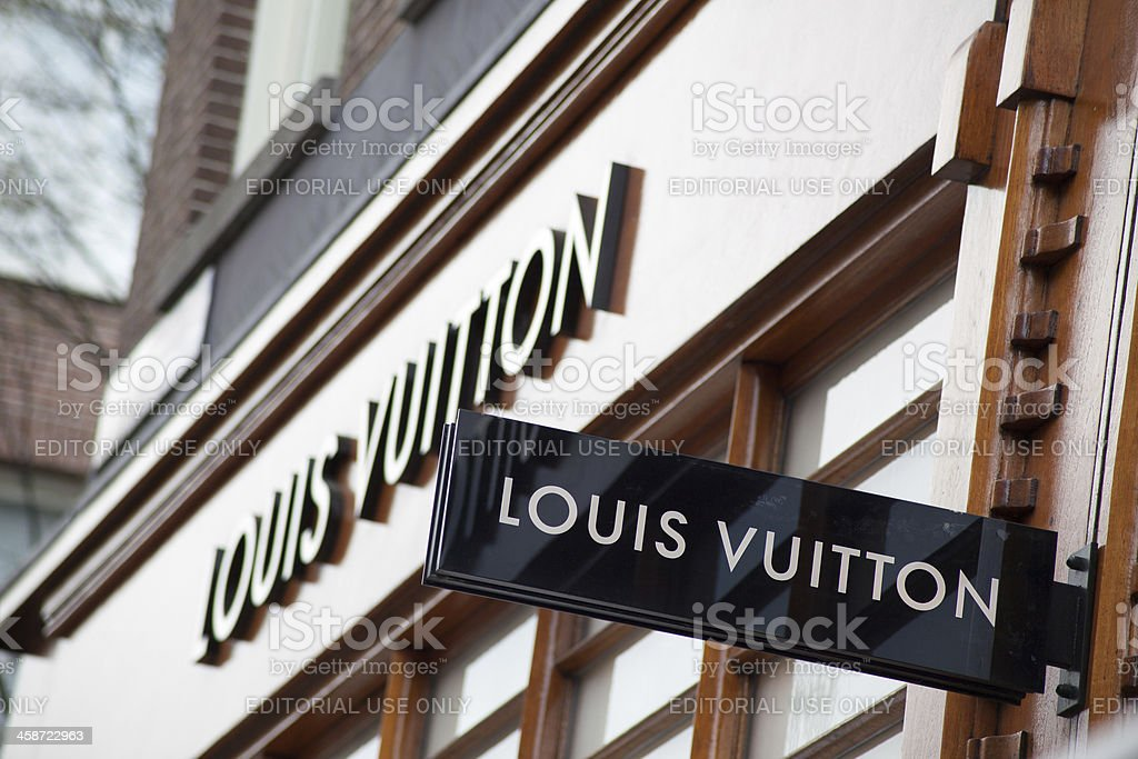344d32892fb Louis Vuitton Store Sign In Amsterdam Stock Photo - Download Image ...