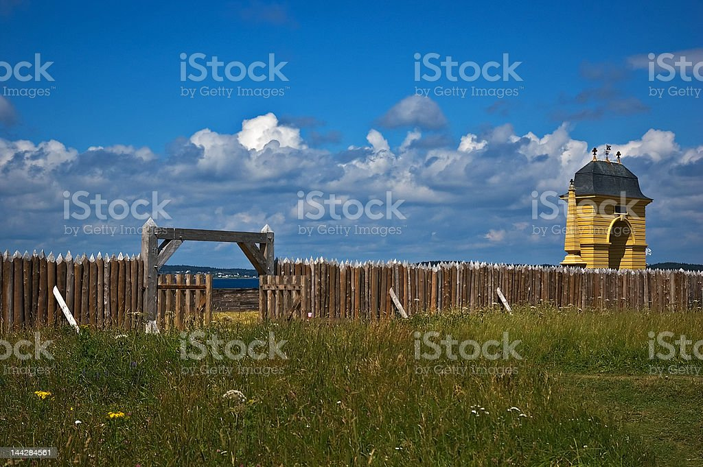 Louisbourg Arch stock photo