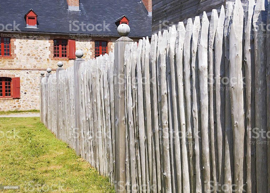 Louisbourg fence stock photo