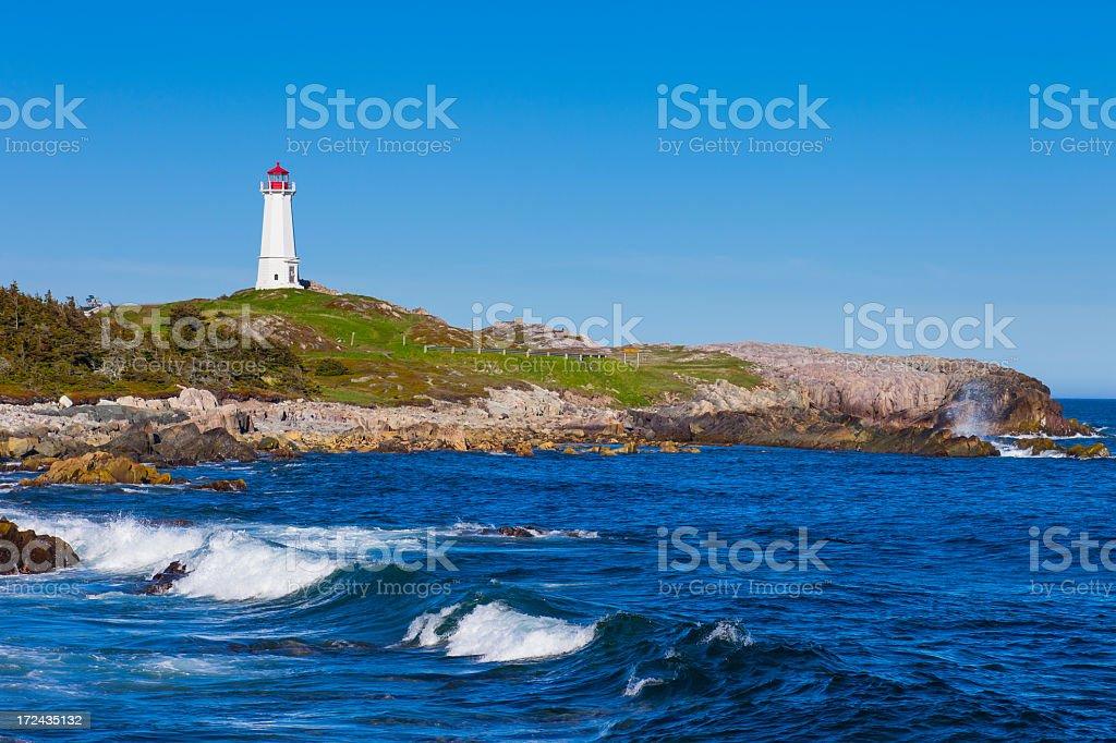 Louisbourg Lighthouse, Nova Scotia, Canada royalty-free stock photo