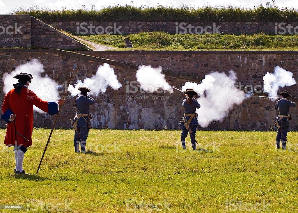Soldados de Louisbourg - foto de acervo