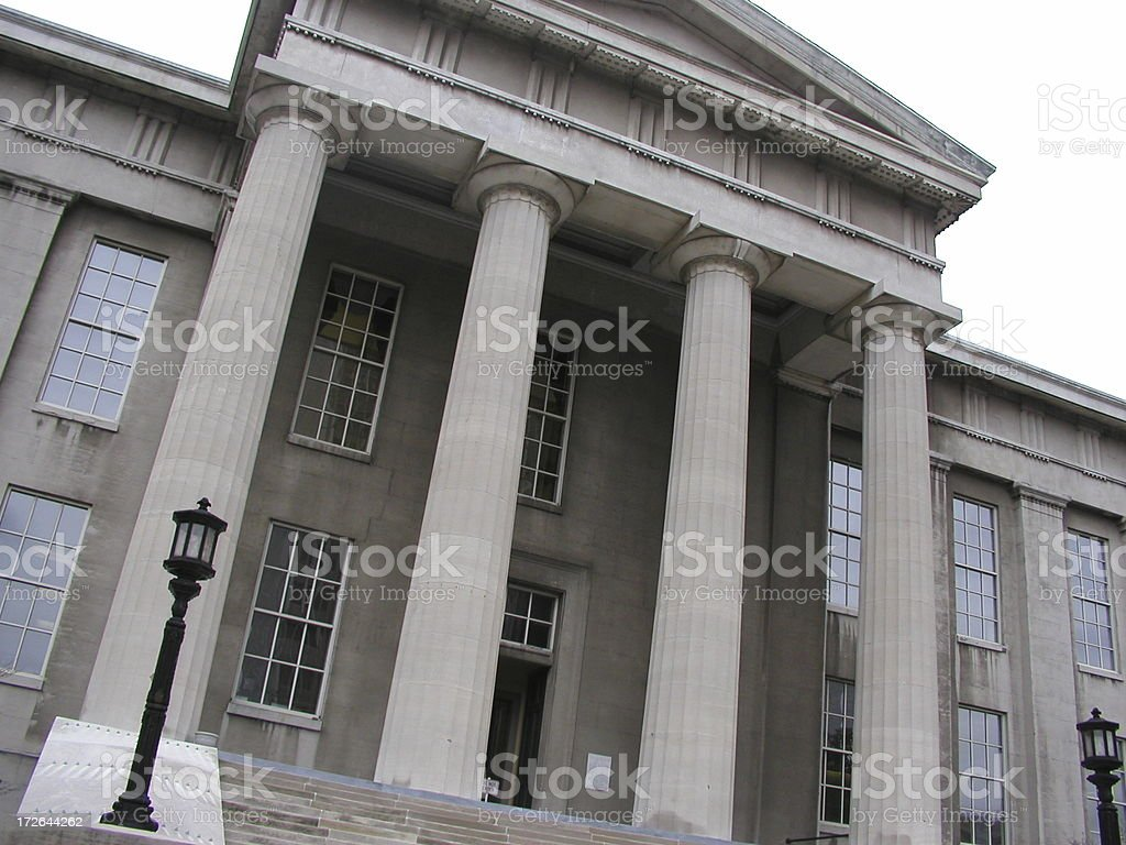 Louiseville Courthouse royalty-free stock photo