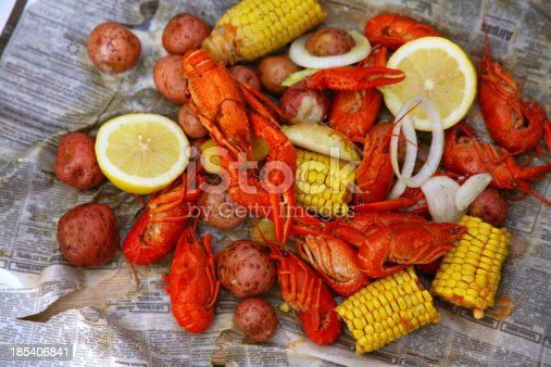 Louisiana crawfish boil.