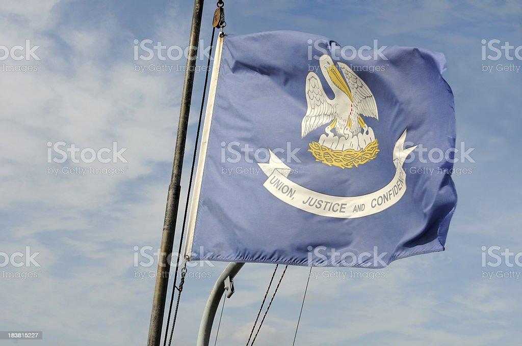 Louisiana Flag stock photo