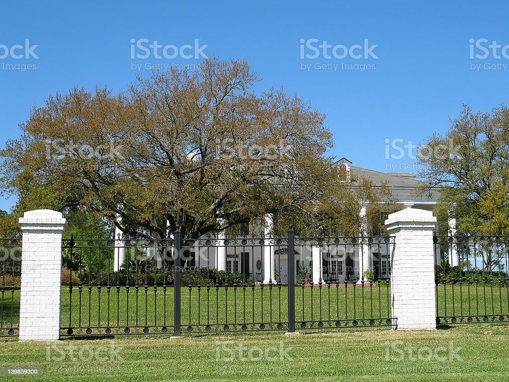 Louisiana Governor's Mansion stock photo